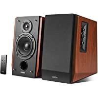 Edifier R1700BT Bluetooth Bookshelf Speakers - Active Near-Field Studio Monitors - Powered Speakers 2.0 Setup Wooden…