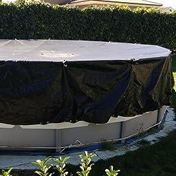Gre CIPR651 - Cobertor de Invierno para Piscina Redonda de 640 cm de Diámetro, Color Negro: Amazon.es: Jardín
