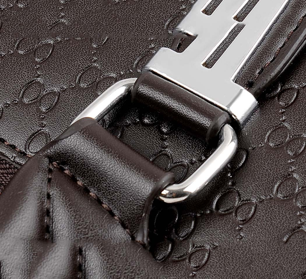 Work Backpack Handbag black Brown Travel GJX Mens Bag Handbag PU Leather Cross-section Business Briefcase Business Trip