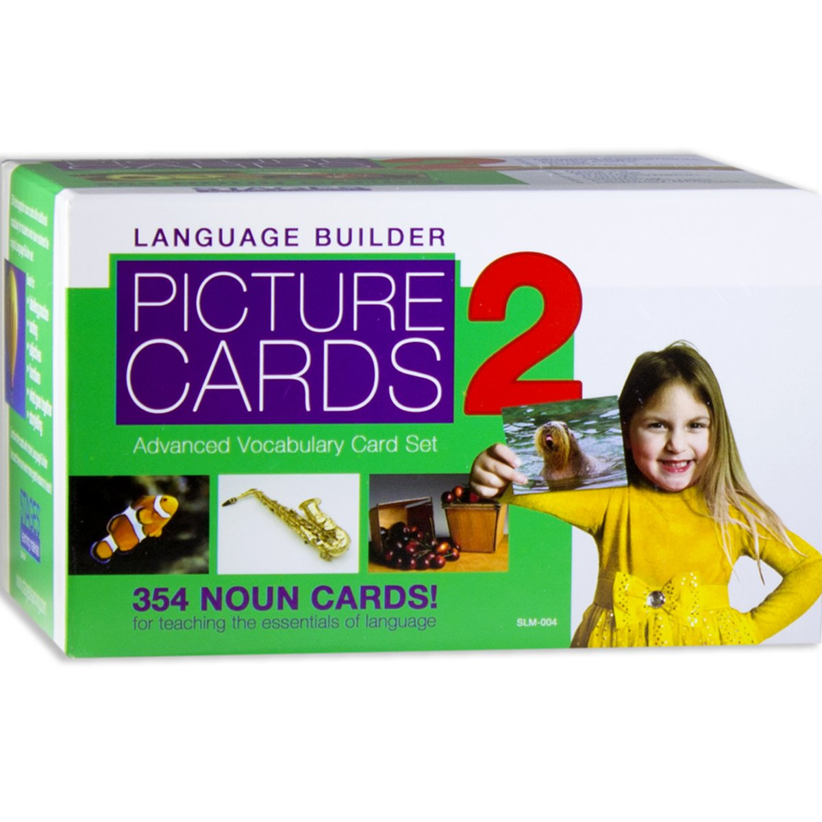 Stages Learning Language Builder Picture Nouns Set 2 for Autism, Aba and Preschool Educational Vocabulary Flash Cards by Stages Learning