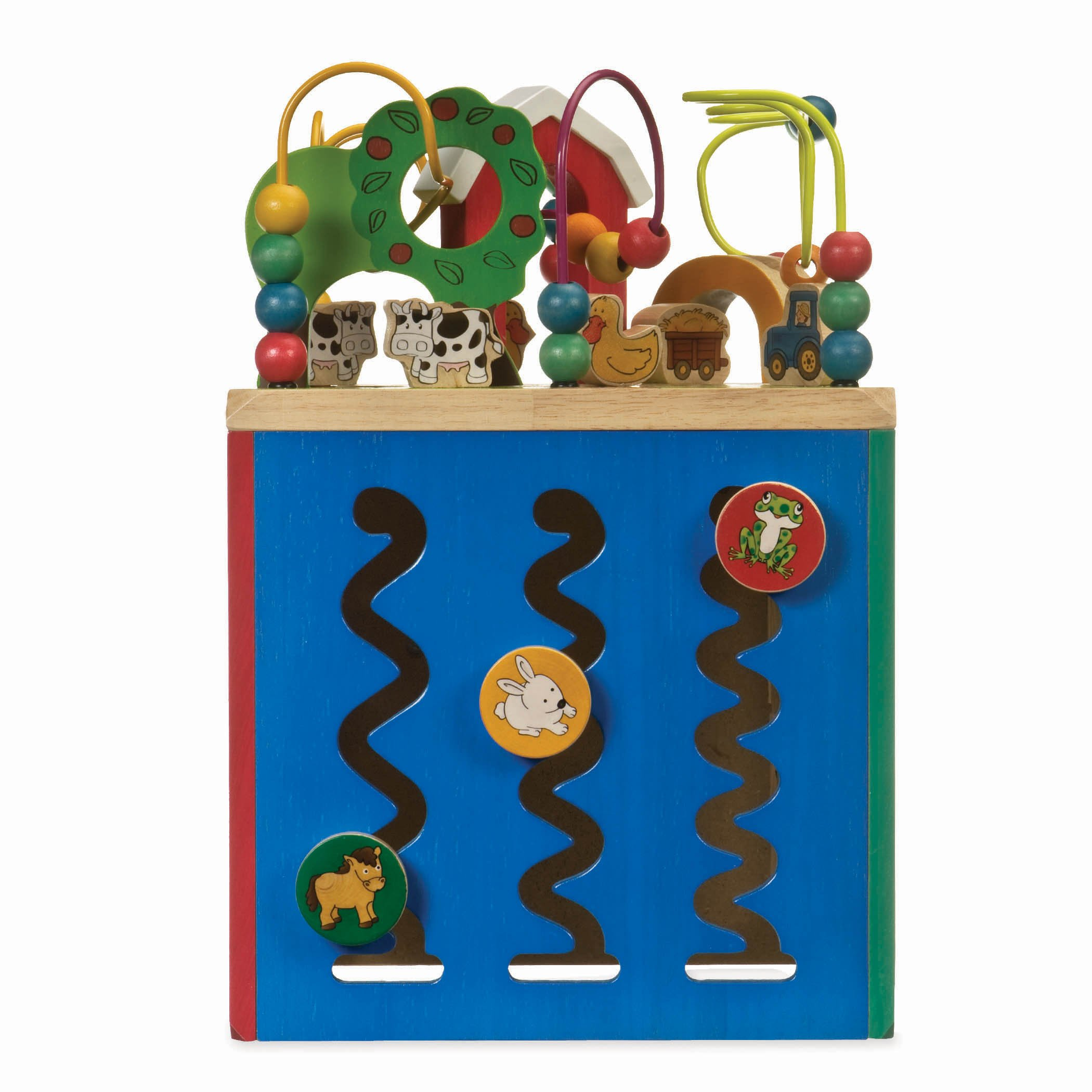 Battat - Wooden Activity Cube - Discover Farm Animals Activity Center for Kids 1 year + by Battat (Image #4)