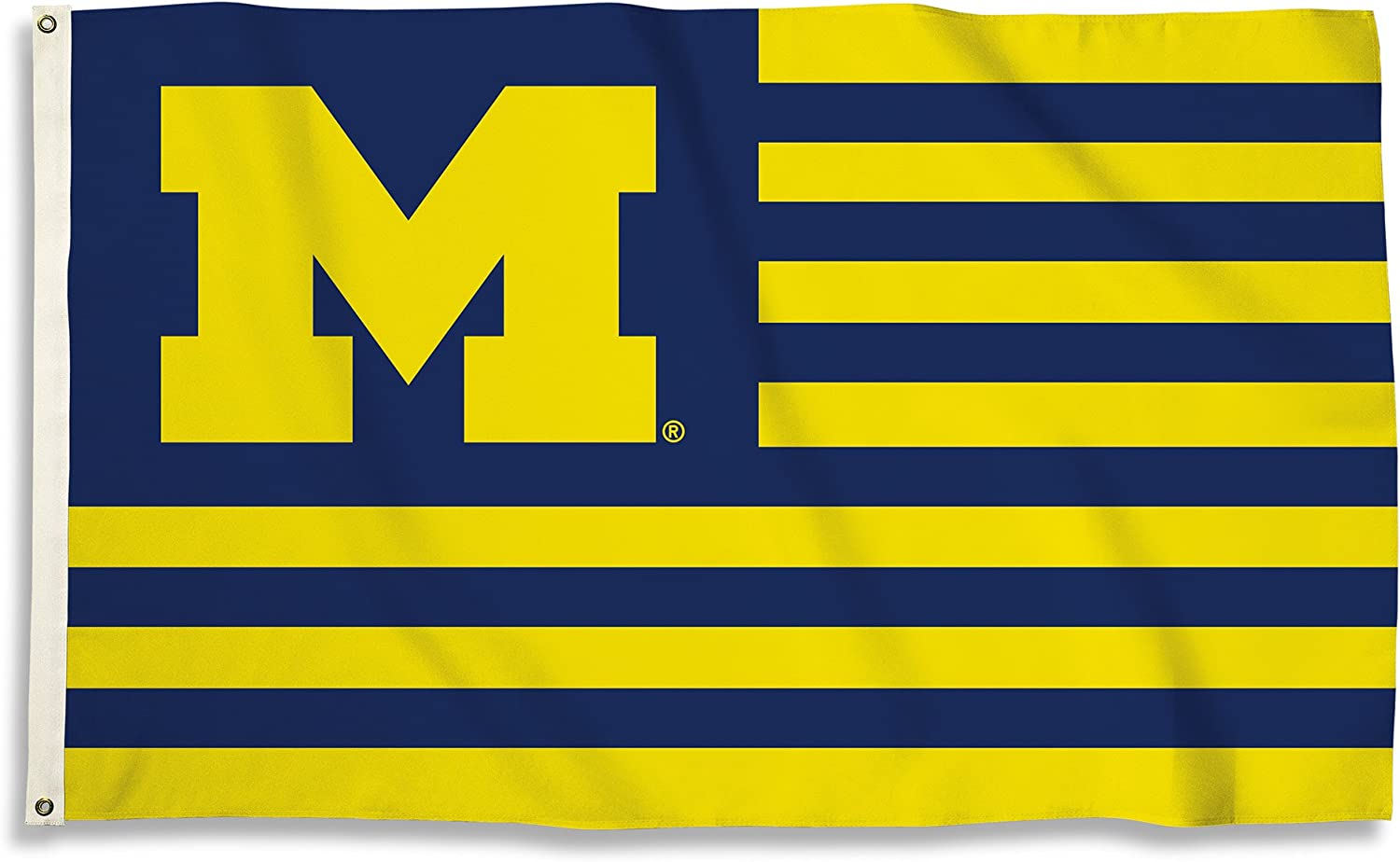 BSI NCAA College Michigan Wolverines 3 X 5 Foot Flag with Grommets