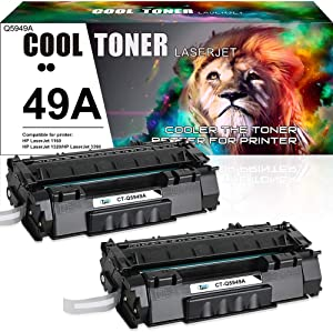 Cool Toner Compatible Toner Cartridge Replacement for HP 49A Q5949A 49X Q5949X for HP Laserjet 1320 1320N 1320TN 1320NW 3390 P2015 P2015DN 3392 HP Laserjet MFP M2727nfs M2727 Printer (Black, 2 Packs)