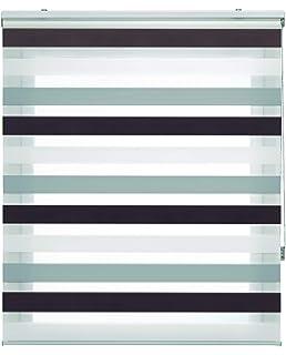 Blindecor Lira Estor Enrollable Doble Tejido, Noche y día,Tricolor 160 x 180 cm, Color Marron…