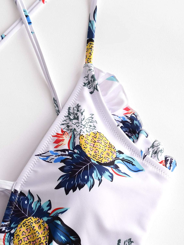 ZAFUL Ba/ñador pi/ña Tropical de Cintura Alta para Mujer
