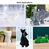 ANYCUBIC 3D Printer Resin with Low Odor and Safety, 405nm UV Plant-Based Rapid Resin with High Precision and Quick Curing for LCD 3D Printing - 500g Clear