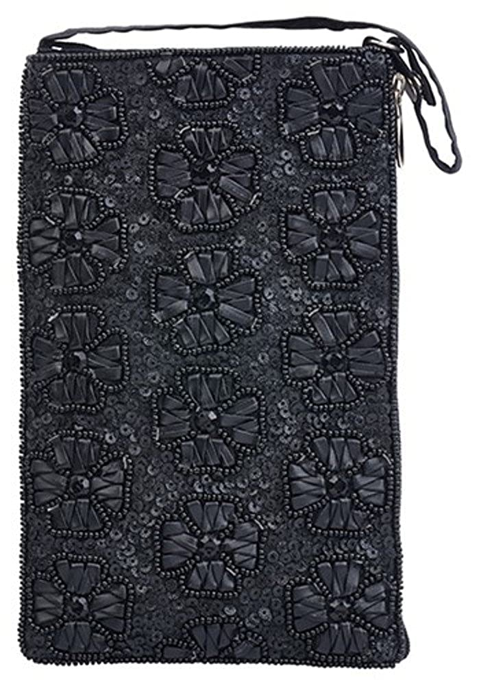 Black Flowers Bamboo Trading Company Cell Phone or Club Bag