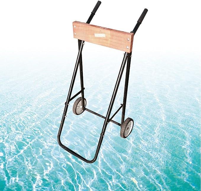 Barco de motor fuera de borda Soporte de carro de rueda Tarea pesada 70KG Motor fueraborda Trolley Motor de barco: Amazon.es: Deportes y aire libre