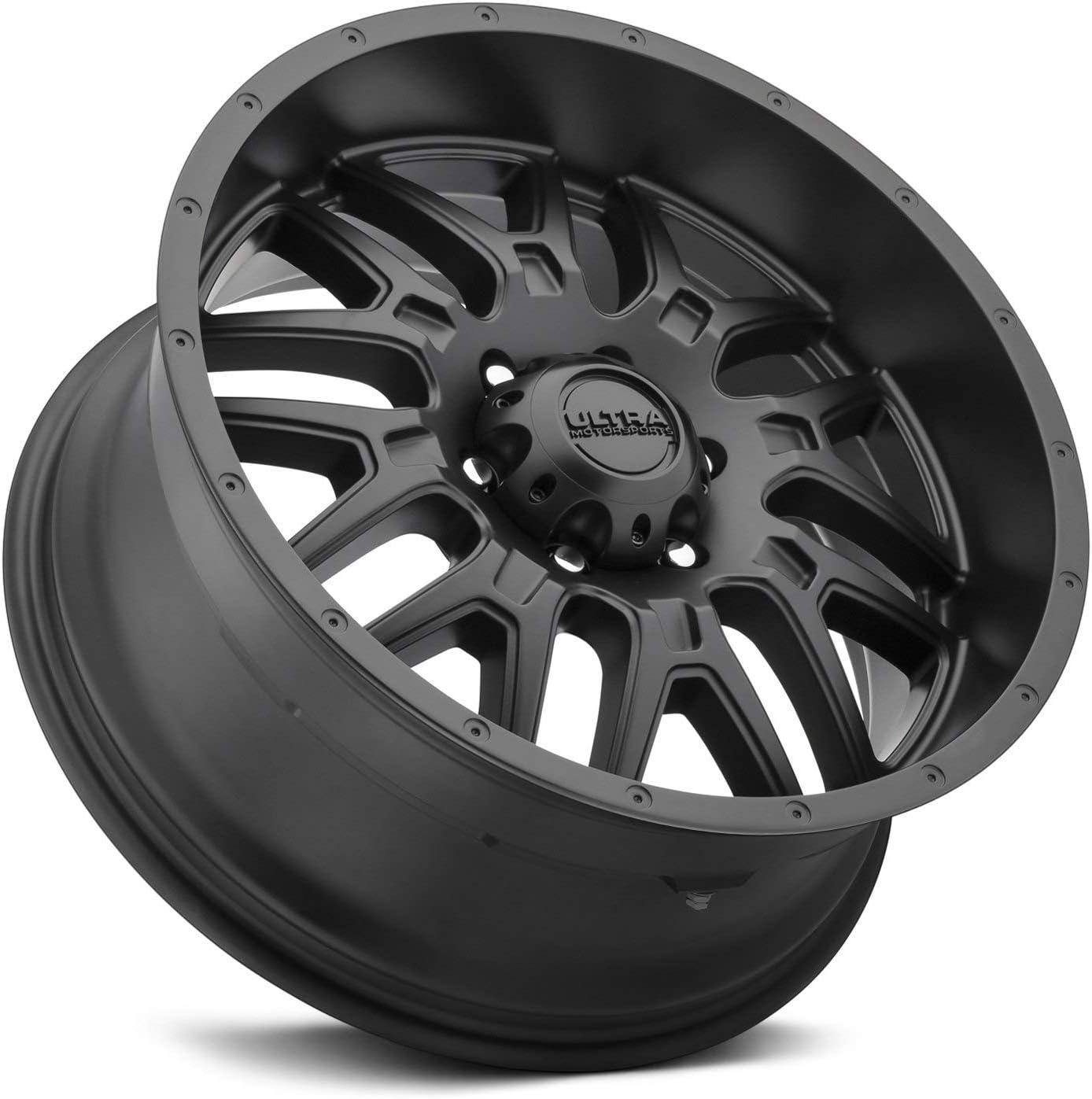 0 x 9. inches //6 x 135 mm, 18 mm Offset ULTRA 203SB HUNTER BLACK Wheel Satin Clear-Coat