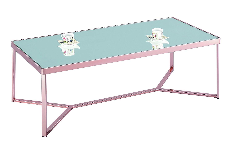 ASPECT Chalon Rectangular Coffee Table, Metal, Copper Mirror
