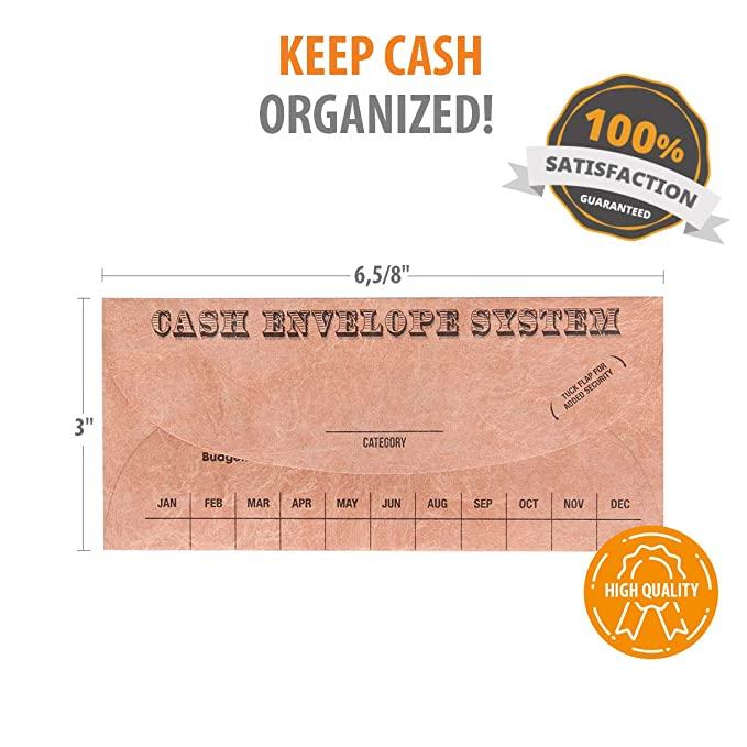 Amazon.com: Budgetizer Cash Envelope System – Paquete de ...