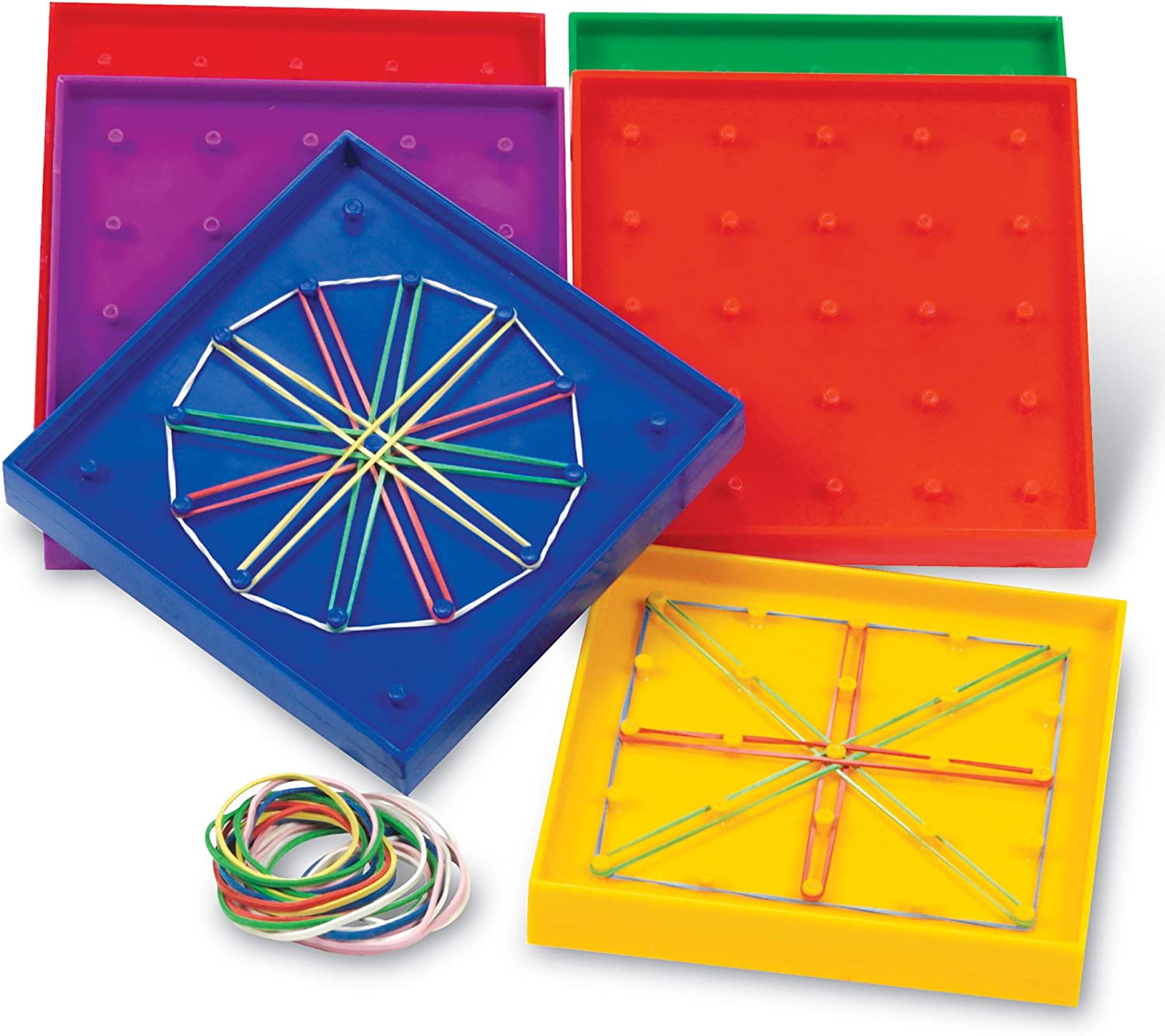 geoboard activities recatangles, circle, squares