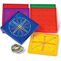 Learning Resources LER0425 5-Inch Double-Sided Assorted Geoboard, Set of 6