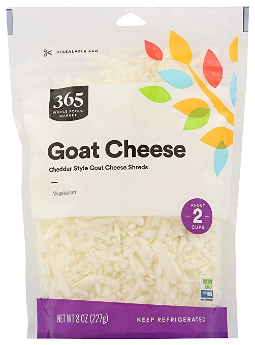 365 by Whole Foods Market, Shredded Cheese, Goat Cheese, 8 Ounce