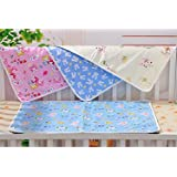 EIO WaterProof Dry Sheet Bed Protector for Baby (70 x 50cm, Multicolour) - Pack of 4