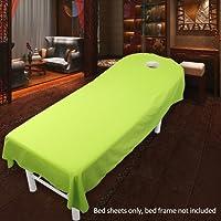 EMVANV Salon draps de lit avec trou Spa Traitement Housse de table Feuilles Beauté Cosmétique de massage éponge Drap-housse