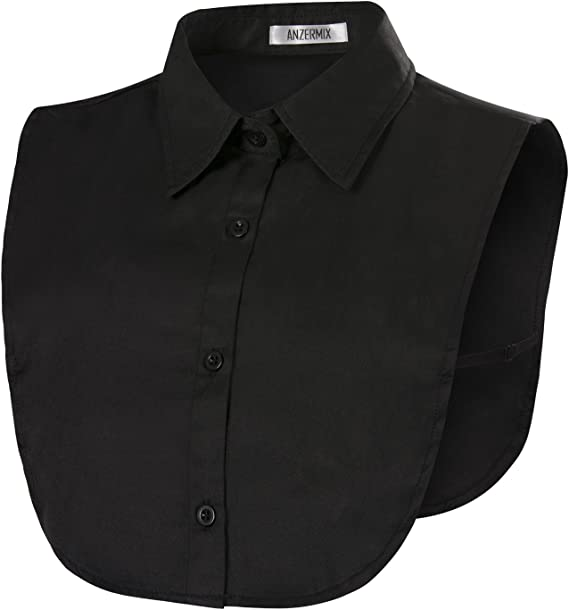 Vpang Stylish Detachable Half Shirt Blouse False Collar Green Leaves Printing Chiffon Fake Collar Dickey Collar