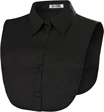 Anzermix Women's Round Fake Collar Detachable Dickey Blouse Half Shirts