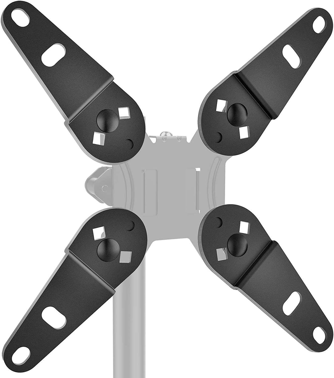 HUANUO Universal Vesa Mount Adapter -Vesa Extender, Monitor Mount Adapter Kit Fits Most 13 to 32 inch, Convert Vesa Plate to Reach 200×100 and 200×200