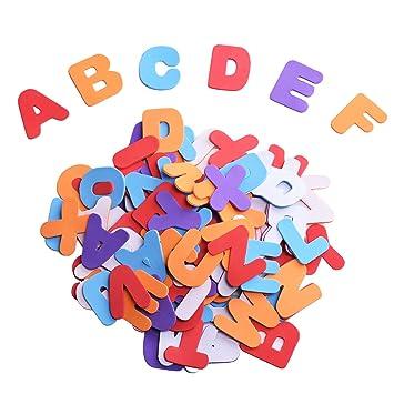 Spugna Schiuma Autoadesiva Lettere Adesivi Colori Assortiti 104