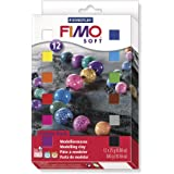 Staedtler 8023 01 Fimo Soft Oven Hardening Modelling Clay - Assorted Colours, 12 x 25 g Half Blocks