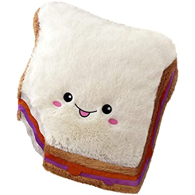"Squishable / Comfort Food Peanut Butter and Jelly Sandwich 15"" Plush: Toys & Games"