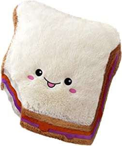 """Squishable / Comfort Food Peanut Butter and Jelly Sandwich 15"""" Plush"""