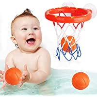 Bathing Toy Bathtub Basketball Hoop, Suitable for Preschool Children, The Suction Cup is Easy to Install, There are Fun…