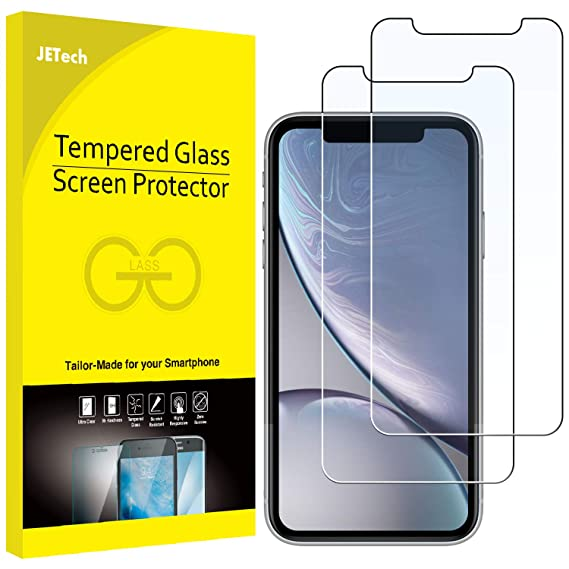 cheaper f21fc 9820c JETech Screen Protector for iPhone XR 6.1-Inch, Tempered Glass Film, 2-Pack