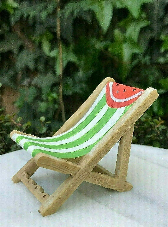 ShopForAllYou Figurines and Statues Miniature Dollhouse Fairy Garden Accessories ~ Mini Watermelon Beach Lawn Chair