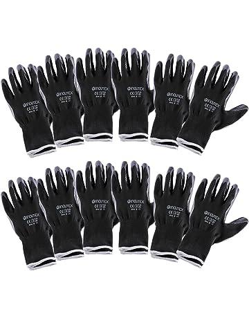 Incutex 12 pares guantes de trabajo guantes de montaje guantes mecánico guantes de construcción con revestimiento
