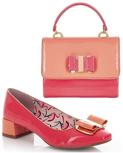 33b372e4672 Ruby shoo women coral june low heel pumps matching casablanca bag jpg  429x535 Coral low heel