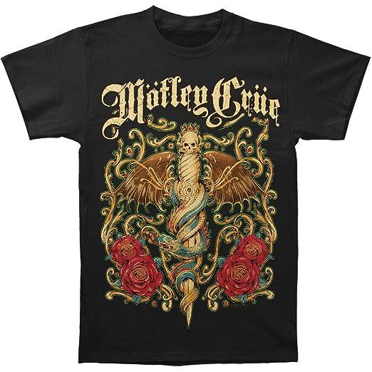 8633214c3e49 Amazon.com  Motley Crue Men s Exquisite Dagger T-Shirt Black  Clothing