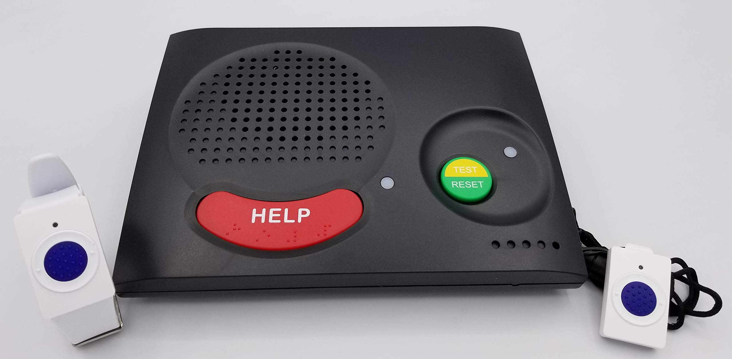 We Send Help Monitored Home Medical Alert System with Up to 2000FT Range Works in and Around The Home. 4G LTE Cellular Requires No Phone Line 1st Month of 24/7 Monitoring Service Free