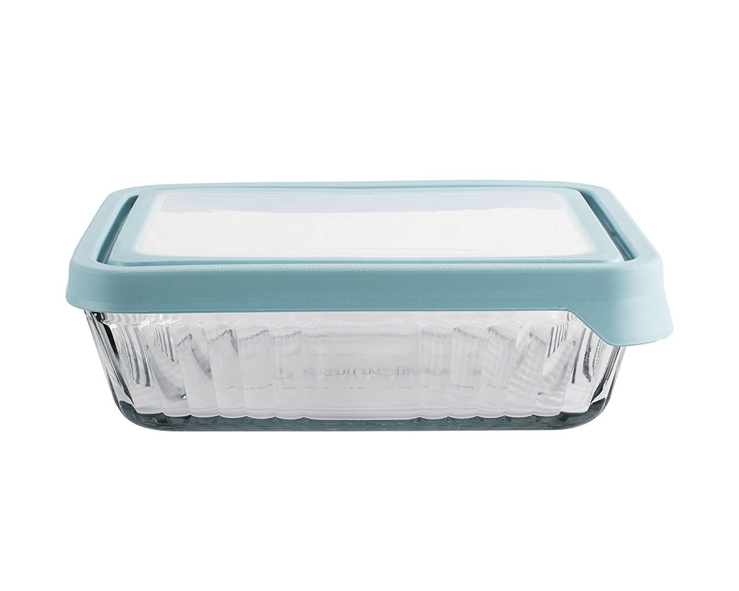 Anchor Hocking Embossed 2 Cup True Seal Round Food Storage Container, Mineral Blue 11722