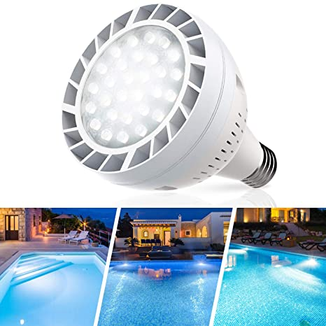 Amazon.com: Sunluway 120V 50watt 6500k LED Pool Bulb White ...