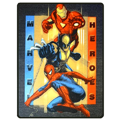 MARVEL COMICS SUPERHERO LARGE RECTANGULAR CARPET RUG (PORTRAIT MARVEL  FIGURES)