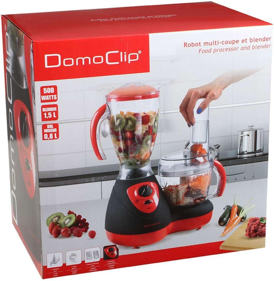 HSN – Robot de cocina con batidora de 1,5 litros (recipiente para mezclar, 0,8 L, picadora, Smoothie maker, hojas de acero inoxidable): Amazon.es: Hogar