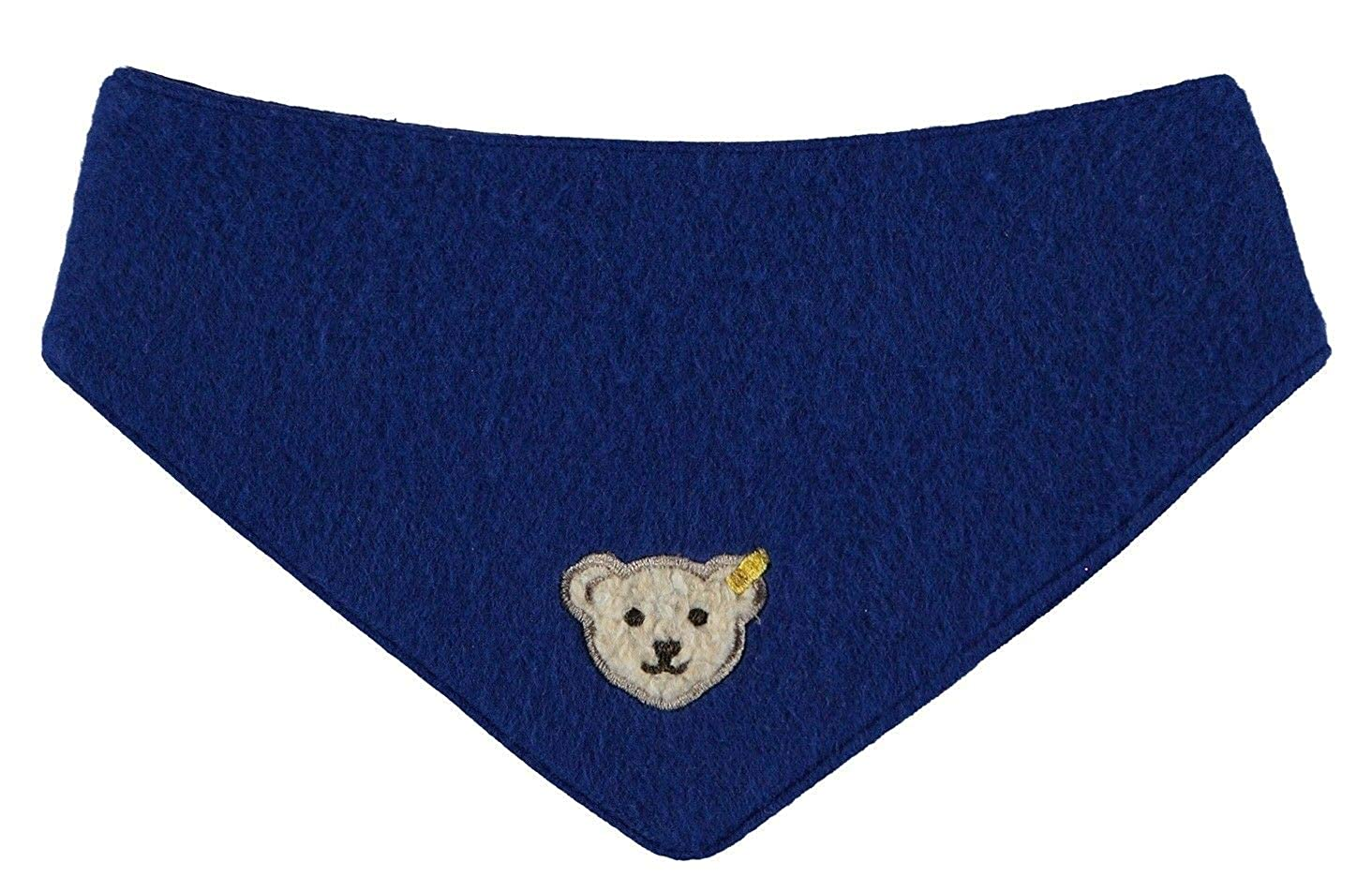 Steiff Baby - Jungen Halstuch Dreieckstuch Fleece Blau (Sodalite Blue 3136) One Size 6843810