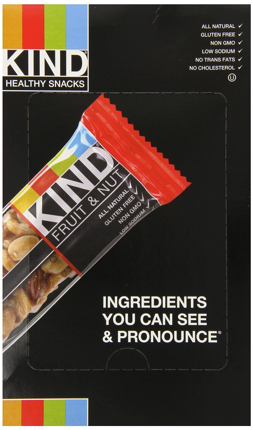 KIND Bars, Fruit and Nut Variety Pack, Gluten Free, 1.4 Ounce Bars, 18 Count
