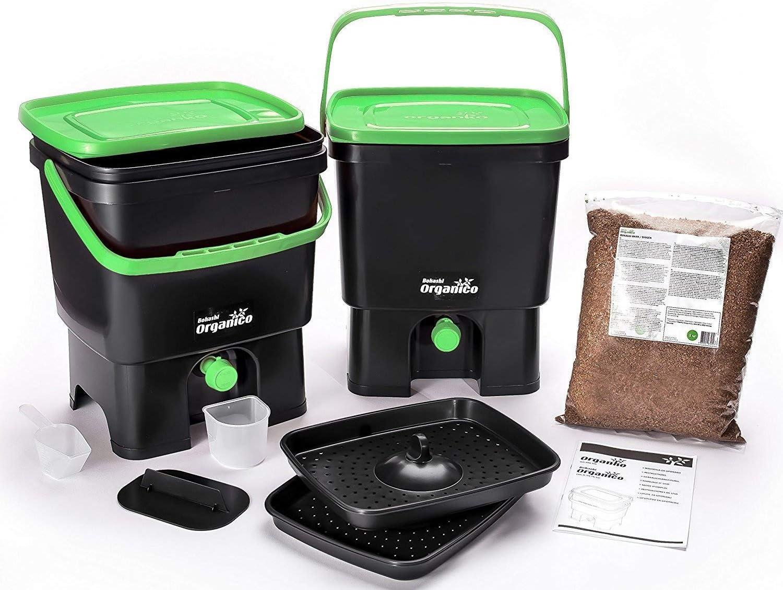 Nero//Arancione /Mente Il Tuo Eco Bokashi Organico Kitchen composter Skaza/