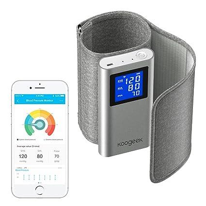 2e049e6c707 Koogeek Tensiómetro de Brazo Bluetooth Wifi Monitor de Presión Arterial  Medir la Frecuencia Cardíaca FDA Certificado