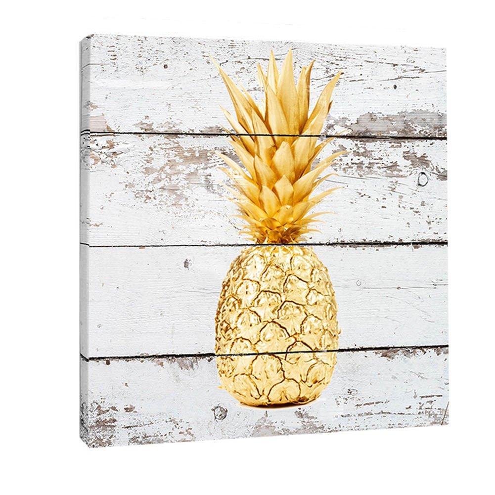 Amazon.com: K-Road Pineapple Canvas Prints Framed Wall Art Vintage ...