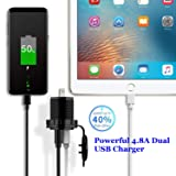 YonHan Dual USB Charger Socket Power Outlet 2.4A