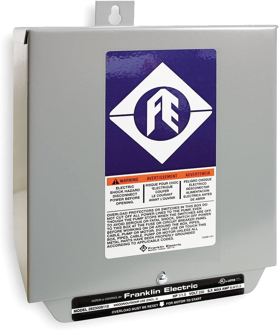 Control Box, 3HP, 230V, 1Phase