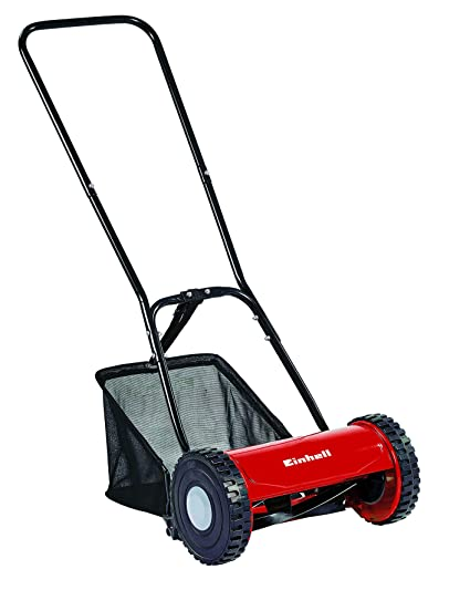 Einhell GC-HM 30 - Cortacesped manual (altura de corte 15-42 mm , ancho de corte 30 cm, hasta 150m² de jardín, 16L de capacidad de bolsa) ...