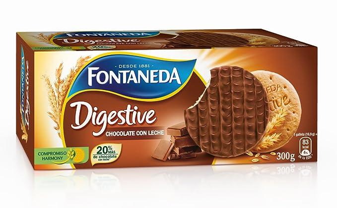 Fontaneda - Galleta Cubierto De Chocolate Con Leche - [pack de 3]