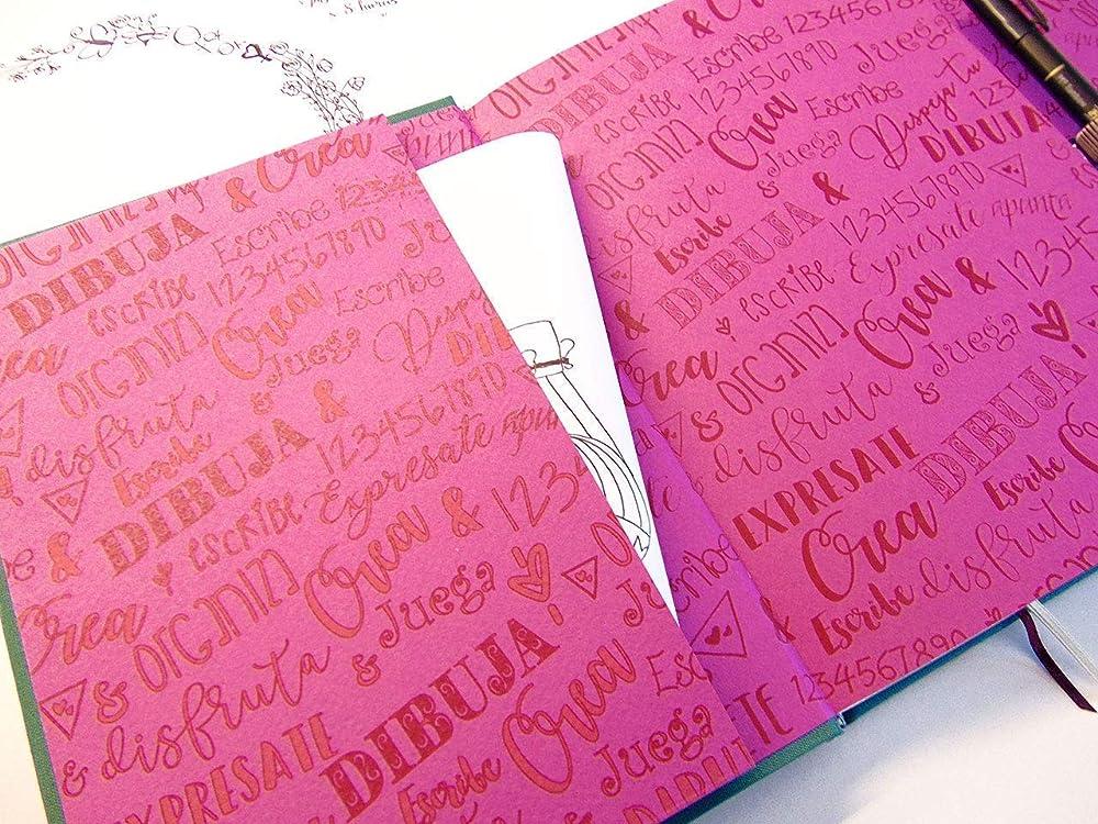 Cuaderno para bullet journal. Libreta con doble tapa verde billar ...