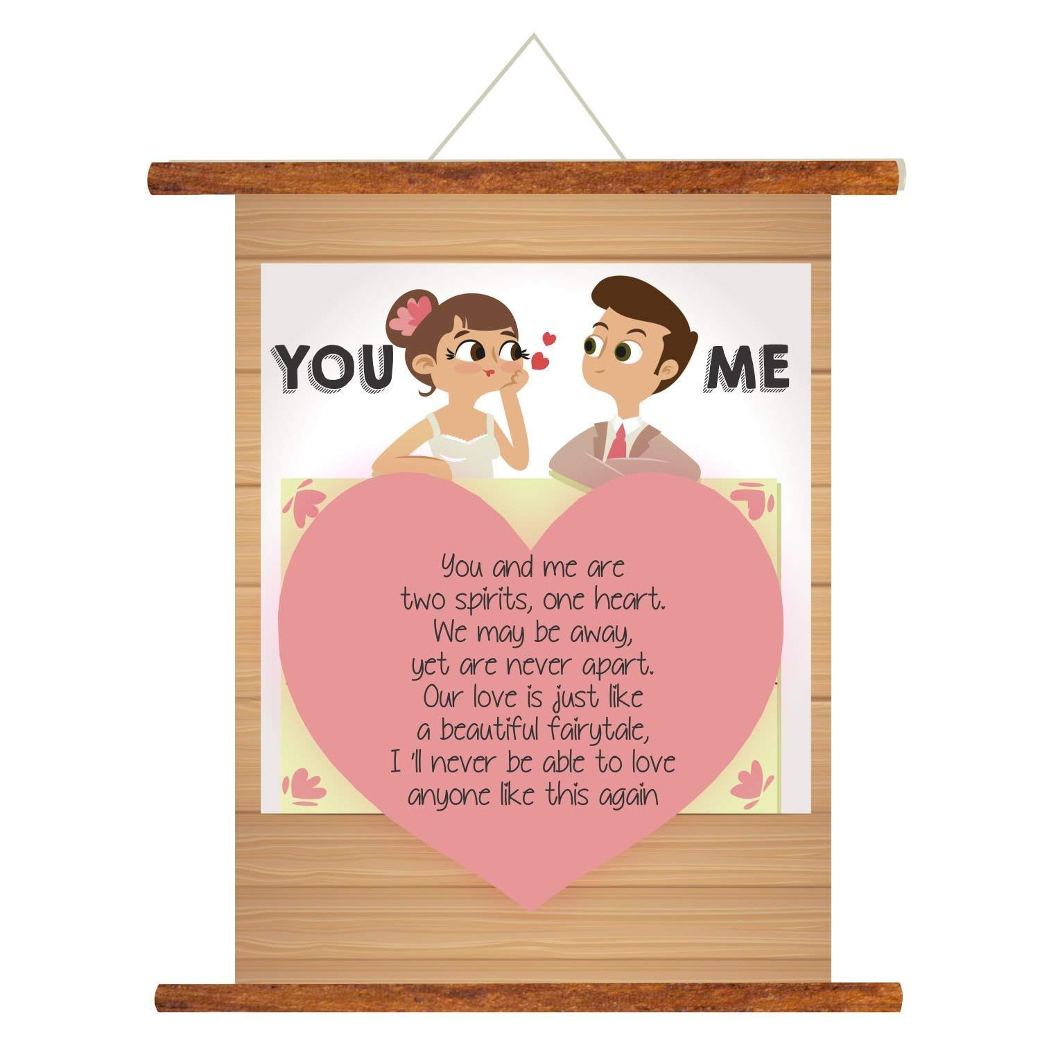 YaYa cafe Valentine Greeting Card for Husband You and Me Scroll Gifts - 18x24 inches (B07NCGR431) Amazon Price History, Amazon Price Tracker