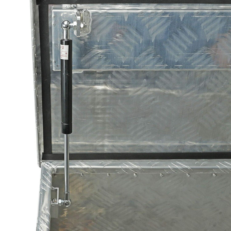 BLACKHORSE-RACING 39 x 13 x 10 Inches Pick Up Truck Truck Bed Tool Box Trailer Storage Heavy Duty Aluminum